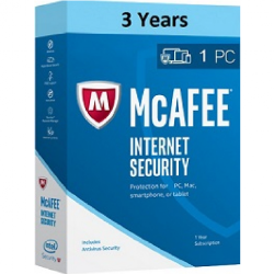 McAfee E-Card Internet Security 2019 | For 3 years | 1 Device